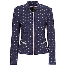 Buy Betty Barclay Jersey Jacket with Diamond Detail, Midnight Sky Online at johnlewis.com