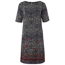 Buy White Stuff Paisley Shift Dress, Gunmetal Online at johnlewis.com