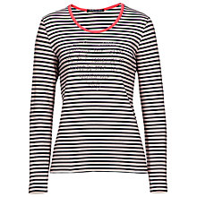 Buy Betty Barclay Stripe Heart T-Shirt, Beige/Blue Online at johnlewis.com