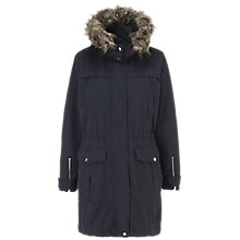 Buy Whistles Bobby Casual Parka Coat, Navy Online at johnlewis.com