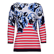 Buy Betty Barclay Stripe Floral Print Jumper, Blue/Pink Online at johnlewis.com