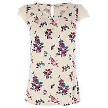 Buy Oasis Floral Blouse, Multi/White Online at johnlewis.com