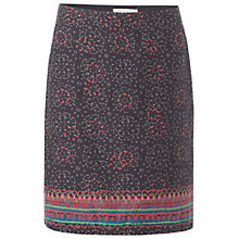 Buy White Stuff Pretty Paisley Skirt, Gunmetal Online at johnlewis.com