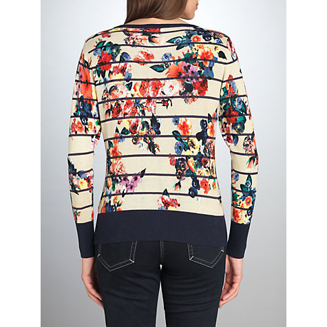 Buy Betty Barclay Flower Round Neck Jumper, Beige/Blue Online at johnlewis.com
