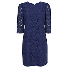 Buy Oasis Lace Shift Dress, Cobalt Blue Online at johnlewis.com
