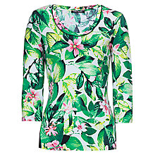 Buy Betty Barclay Flower T-Shirt, Green Online at johnlewis.com