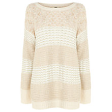 Buy Oasis Stitch Jumper, Light Neutral Online at johnlewis.com