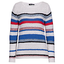 Buy Betty Barclay Loose Knitted Stripe Jumper, Cream/Blue Online at johnlewis.com