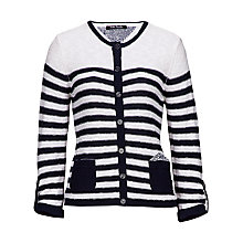 Buy Betty Barclay Stripe Cardigan, Cream/Dark Blue Online at johnlewis.com