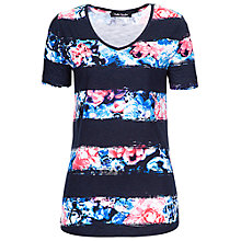Buy Betty Barclay Stripe Floral T-Shirt, Multi Online at johnlewis.com