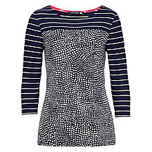 Buy Betty Barclay Stripe and Spot T-Shirt, Dark Blue/Cream Online at johnlewis.com