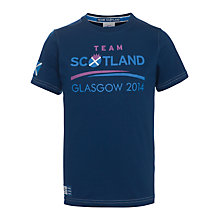 Buy Glasgow Commonwealth Games 2014 Junior Team Scotland T-Shirt, Navy Online at johnlewis.com