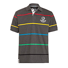Buy Glasgow Commonwealth Games 2014 Men's Classic Stripe Polo Shirt, Grey Marl Online at johnlewis.com