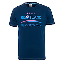 Buy Glasgow 2014 Commonwealth Games Men's Team Scotland T-Shirt, Navy Online at johnlewis.com
