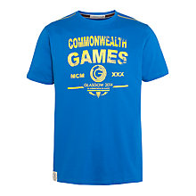 Buy Glasgow 2014 Commonwealth Games Men's Crew Neck T-Shirt, Cobalt Blue Online at johnlewis.com
