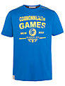 Glasgow Commonwealth Games 2014 Men's Crew Neck T-Shirt, Cobalt Blue