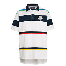 Buy Glasgow Commonwealth Games 2014 Men's Classic Striped Rugby Shirt, White/Navy Online at johnlewis.com