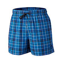 Buy Adidas Check Swimshorts, Blue Online at johnlewis.com