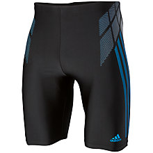 Buy Adidas Tech Range Swim Long Length Boxer, Black/Blue Online at johnlewis.com
