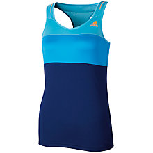 Buy Adidas Women's Response Tennis Tanktop, Blue/Navy Online at johnlewis.com