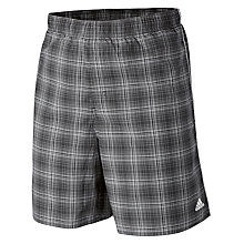 Buy Adidas Check Swim Shorts, Grey Online at johnlewis.com