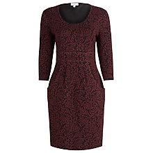 Buy Kaliko Floral Jacquard Dress, Red Online at johnlewis.com