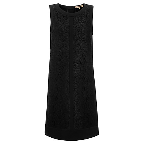 Buy Jigsaw Ponte and Lace Dress, Black Online at johnlewis.com