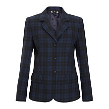 Buy Jigsaw Tartan Blazer, Navy Online at johnlewis.com