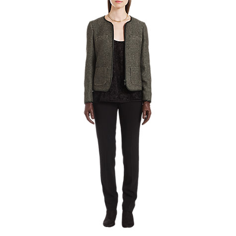 Buy Jigsaw Birdseye Tweed Jacket, Black Online at johnlewis.com