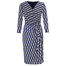 Buy COLLECTION by John Lewis Whitney Rose Print Dress, Navy Online at johnlewis.com