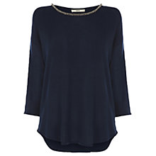 Buy Oasis Wrap Black Top, Navy Online at johnlewis.com