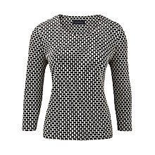 Buy Viyella Textured Jersey Top, Black Online at johnlewis.com