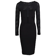 Buy French Connection Agey Striped Dress, Black Online at johnlewis.com
