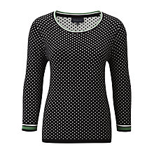 Buy Viyella Geometric Striped Jumper, Black Online at johnlewis.com