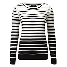 Buy Viyella Graduated Striped Jumper, Black Online at johnlewis.com