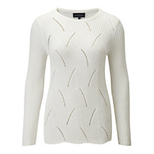 Buy Viyella Textured Ribbed Jumper, Ivory Online at johnlewis.com