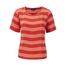 Buy Viyella Chilli Cupro Striped Top, Chilli Online at johnlewis.com