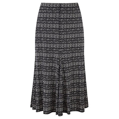 Buy Viyella Rectangle Printed Jersey Skirt, Black Online at johnlewis.com