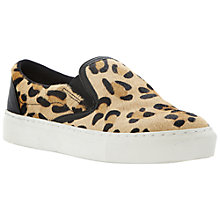 Buy Bertie Putney Textured Slip-On Trainers, Leopard Online at johnlewis.com