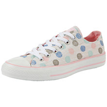 Buy Converse Chuck Taylor All Star Spot Fabric Low-Top Trainers, Multi Online at johnlewis.com