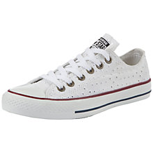 Buy Converse Chuck Taylor All Star Cut-Out Canvas Low-Top Trainers, White Online at johnlewis.com