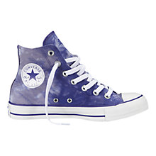 Buy Converse Chuck Taylor All Star Tie Dye Hi-Top Trainers, Purple / White Online at johnlewis.com