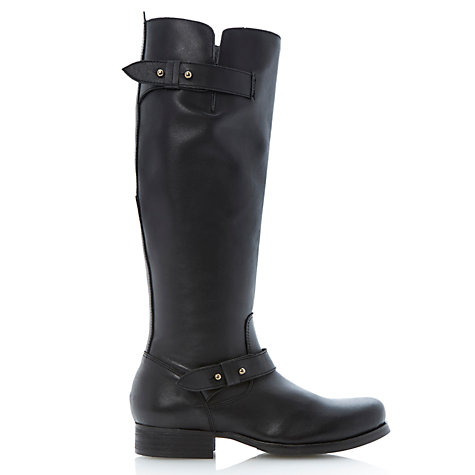 Buy Bertie Tread Leather Double Buckled Knee Boots Online at johnlewis.com