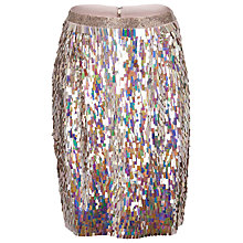 Buy French Connection Irridescent Shimmer Pencil Skirt,  Multi Online at johnlewis.com