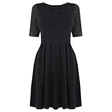 Buy Oasis Animal Print Skater Dress, Dark Grey Online at johnlewis.com