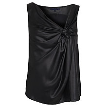 Buy French Connection Liquid Twist Top, Black Online at johnlewis.com