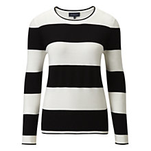 Buy Viyella Monochrome Striped Jumper, Black/White Online at johnlewis.com