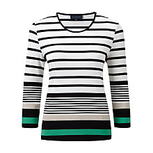 Buy Viyella Striped Jersey Top, Ivory Online at johnlewis.com