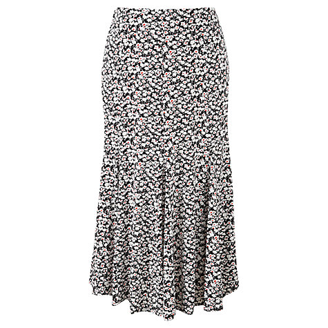 Buy Viyella Petite Graphic Floral Skirt, Black Online at johnlewis.com