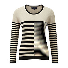 Buy Viyella Multi Striped Jumper, Black Online at johnlewis.com